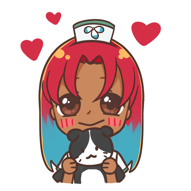 Nurse Nila with a Kitty